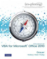 Exploring Microsoft Office 2010 Getting Started with VBA 1st Edition 9781256184058 1256184055