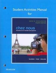 Student Activities Manual for Chez nous 4th Edition 9780205935505 0205935508