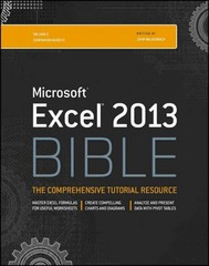 Excel 2013 Bible 1st Edition 9781118490365 1118490363