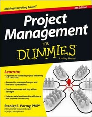 Project Management For Dummies 4th Edition 9781118497234 1118497236