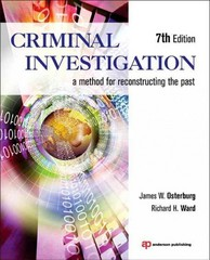 Criminal Investigation 7th Edition 9781455731381 1455731382