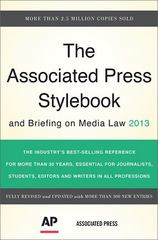 The Associated Press Stylebook 2013 46th Edition 9780465082995 0465082998
