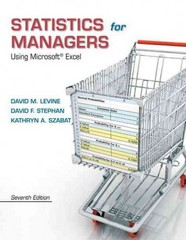 Statistics for Managers Using Microsoft Excel 7th Edition 9780133402612 0133402614