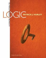 A Concise Introduction to Logic 12th Edition 9781285196541 1285196546