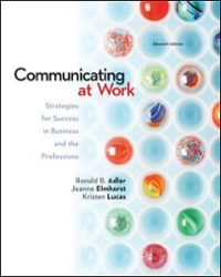 Communicating at Work: Strategies for Success in Business and the Professions 11th Edition eBook 9780077736385 0077736389