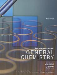 Fundamentals of General Chemistry Volume I 4th edition 9781256785088 1256785083