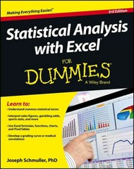 Statistical Analysis with Excel For Dummies 3rd Edition 9781118464311 1118464311