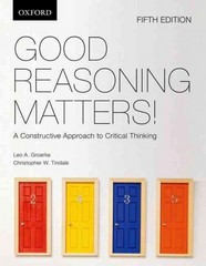 Good Reasoning Matters! 5th Edition 9780195445756 0195445759