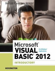 Microsoft Visual Basic 2012 for Windows Applications 1st Edition 9781285966274 1285966279
