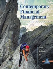 Contemporary Financial Management 13th Edition 9781285198842 1285198840