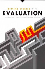 Getting Started with Evaluation 1st Edition 9780838911952 0838911951