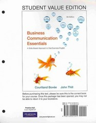 Business Communication Essentials, Student Value Edition Plus NEW MyBCommLab with Pearson eText -- Access Card Package 5th edition 9780132753821 0132753820