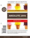 Absolute Java, Student Value Edition Plus MyProgrammingLab with Pearson eText -- Access Card Package