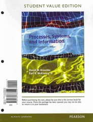 Processes, Systems, and Information 1st edition 9780133025743 0133025748