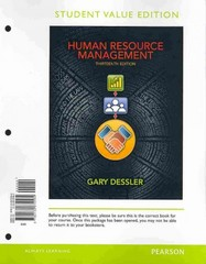 Human Resource Management, Student Value Edition Plus 2012 MyManagementLab with Pearson eText -- Access Card Package 13th edition 9780133029871 0133029875