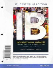 International Business: Environments & Operations, Student Value Edition Plus 2012 MyManagementLab with Pearson eText -- Access Card Package 14th edition 9780133033960 0133033961