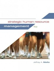 Strategic Human Resource Management 4th Edition 9781285426792 1285426797