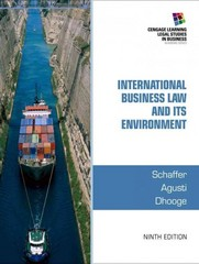 International Business Law and Its Environment 9th Edition 9781285427041 1285427041