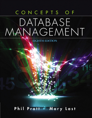 Concepts of Database Management 8th Edition 9781285427102 1285427106