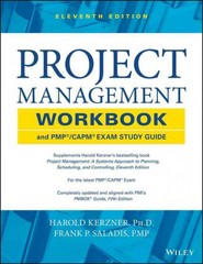 Project Management Workbook and PMP / CAPM Exam Study Guide 11th Edition 9781118552537 1118552539
