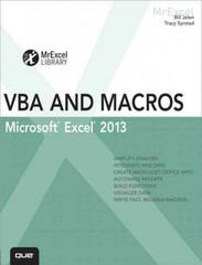 Excel 2013 VBA and Macros 1st Edition 9780789748614 0789748614