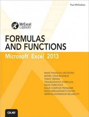 Excel 2013 Formulas and Functions 1st Edition 9780789748676 0789748673