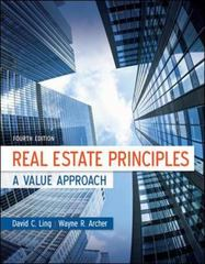 Real Estate Principles 4th Edition 9780073377346 0073377341