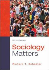 Sociology Matters 6th Edition 9780078026959 0078026954