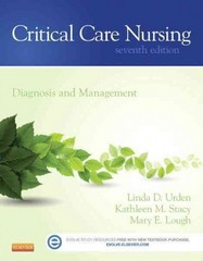 Critical Care Nursing 7th Edition 9780323091787 0323091784