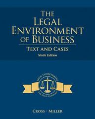 The Legal Environment of Business 9th Edition 9781285428949 1285428943