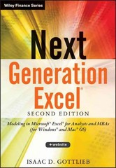 Next Generation Excel 2nd Edition 9781118469101 1118469100