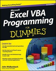 Excel VBA Programming For Dummies 3rd Edition 9781118490372 1118490371