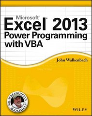 Excel 2013 Power Programming with VBA 1st Edition 9781118490396 1118490398