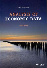 Analysis of Economic Data 4th Edition 9781118472538 1118472535