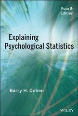 Explaining Psychological Statistics 4th Edition 9781118436608 1118436601