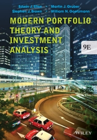 Modern Portfolio Theory and Investment Analysis 9th Edition 9781118469941 1118469941