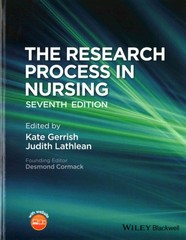 The Research Process in Nursing 7th Edition 9781118522561 1118522567
