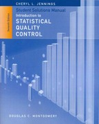 Student Solutions Manual to accompany Introduction to Statistical Quality Control 7th Edition 9781118573594 1118573595