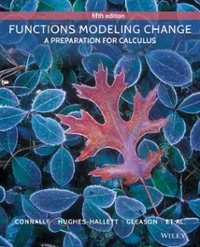 Functions Modeling Change 5th Edition 9781118583197 1118583191
