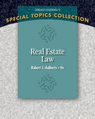 Real Estate Law 9th Edition 9781305147201 1305147200