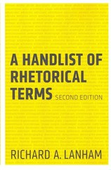 A Handlist of Rhetorical Terms 2nd Edition 9780520273689 0520273680