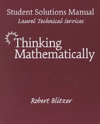 Thinking Mathematically 0 9780130149381 0130149381