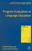 Program Evaluation in Language Education 0 9781403945716 1403945713