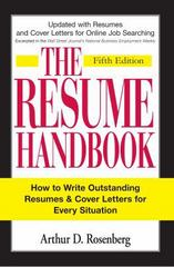 The Resume Handbook 5th Edition 9781598694598 1598694596