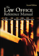 The Law Office Reference Manual 2nd edition 9780073511832 0073511838