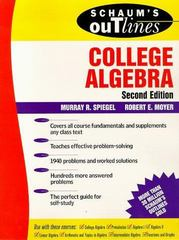 Schaum's Outline of College Algebra 2nd edition 9780070602663 0070602662