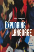 Exploring Language 9th edition 9780321055187 0321055187