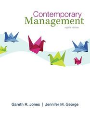 Contemporary Management 8th Edition 9780078029530 0078029538