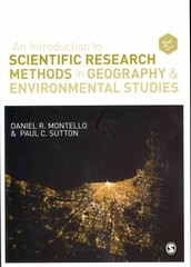 An Introduction to Scientific Research Methods in Geography and Environmental Studies 2nd Edition 9781446200759 1446200752