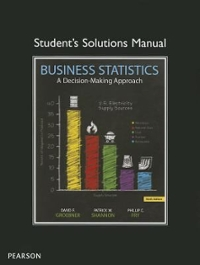 Student Solutions Manual for Business Statistics 9th Edition 9780133022469 0133022463